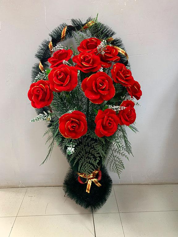Полуваза Бархатные розы